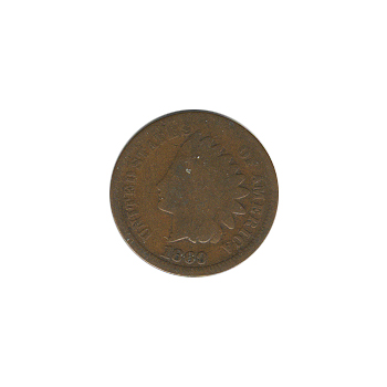 Indian Head Cent 1869 G-VG