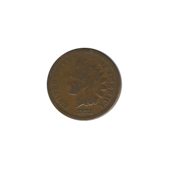 Indian Head Cent 1873 Open 3 G-VG