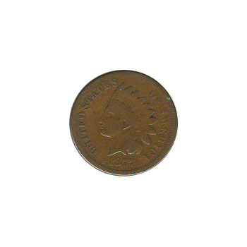 Indian Head Cent 1877 G-VG