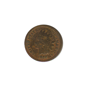 Indian Head Cent 1880 G-VG