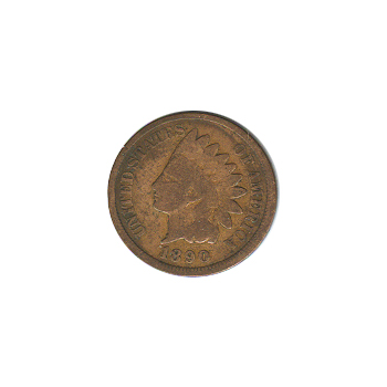 Indian Head Cent 1890 G-VG