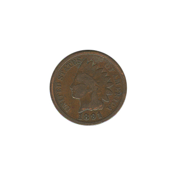 Indian Head Cent 1891 G-VG