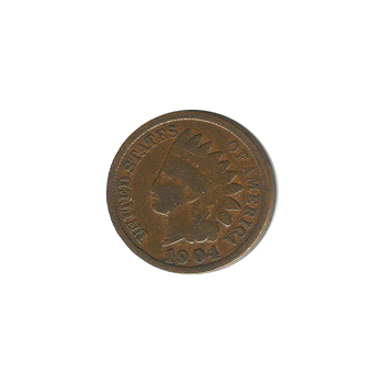 Indian Head Cent 1904 G-VG