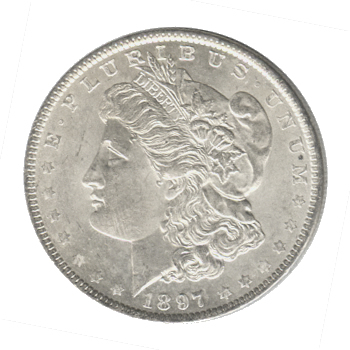 Morgan Silver Dollar Uncirculated 1897