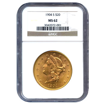 Certified US Gold $20 Liberty MS62 (Dates Our Choice) PCGS or NGC