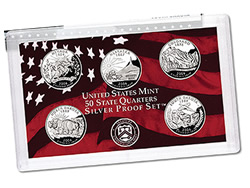 US Proof Set Statehood Silver Quarters Without Box 2008