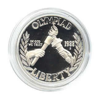 US Commemorative Dollar Proof 1988-S Olympic