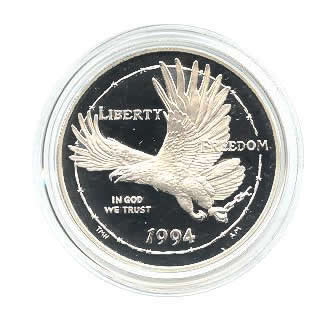 US Commemorative Dollar Proof 1994-P POW