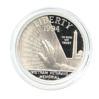 US Commemorative Dollar Proof 1994-P Vietnam