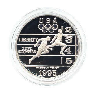 US Commemorative Dollar Proof 1995-P Track and Field