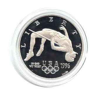 US Commemorative Dollar Proof 1996-P High Jump