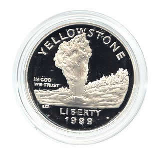 US Commemorative Dollar Proof 1999-P Yellowstone
