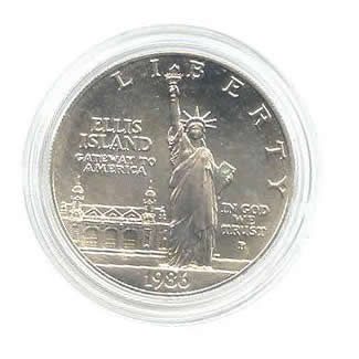US Commemorative Dollar Uncirculated 1986-P Statue of Liberty