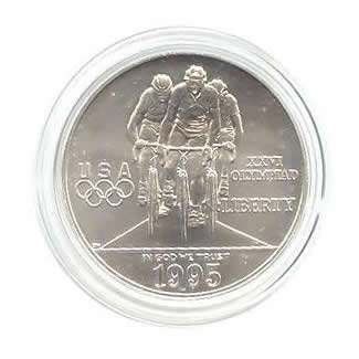 US Commemorative Dollar Uncirculated 1995-D Cycling
