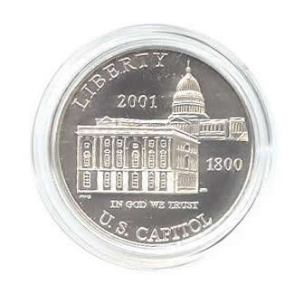 US Commemorative Dollar Uncirculated 2001-P Capitol Visitor Center