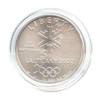 US Commemorative Dollar Uncirculated 2002-P Olympic