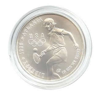 US Commemorative Dollar Uncirculated 1996-D Tennis