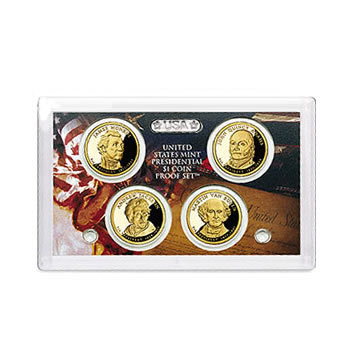 US Presidential Dollar 4pc Proof Set 2008 Without Box