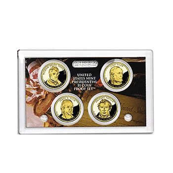 US Presidential Dollar 4pc Proof Set 2009 Without Box