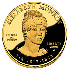 First Spouse 2008 Elizabeth Monroe Proof