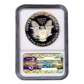 Certified Proof Silver Eagle 1990 Pf70 Ngc Golden Eagle