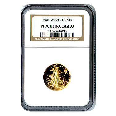 Certified Proof American Gold Eagle $10 2006-W PF70 NGC