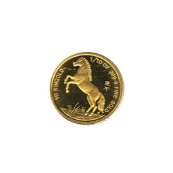 Singapore Gold Tenth Ounce 1990 Horse