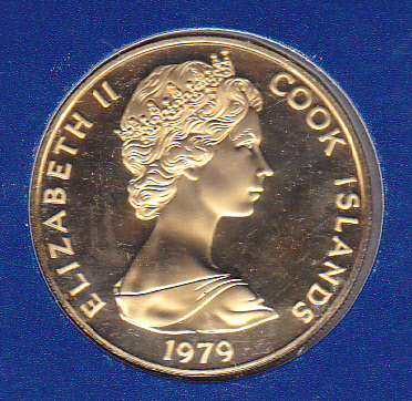 Cook Islands 100 Gold Proof 1979 Tangaroa Golden Eagle