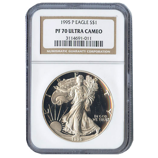 Certified Proof Silver Eagle 1995 PF70 NGC