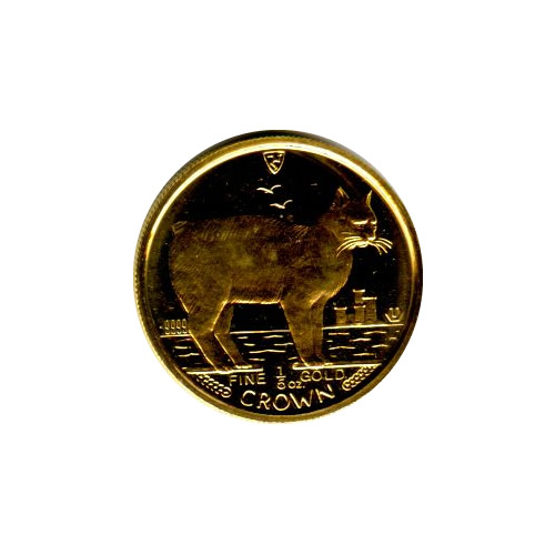 Isle of Man Gold Cat Fifth Ounce 1988