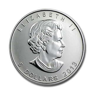 2013 Silver Maple Leaf 1 oz Uncirculated