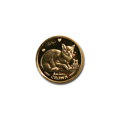 Isle of Man Gold Cat 25th Ounce 1996
