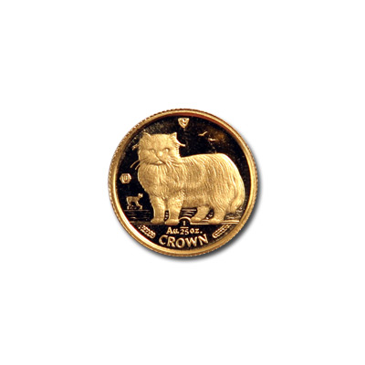Isle of Man Gold Cat 25th Ounce 1989
