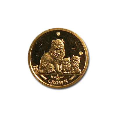 Isle of Man Gold Cat Tenth Ounce 2005