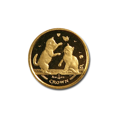 Isle of Man Gold Cat Tenth Ounce 2004