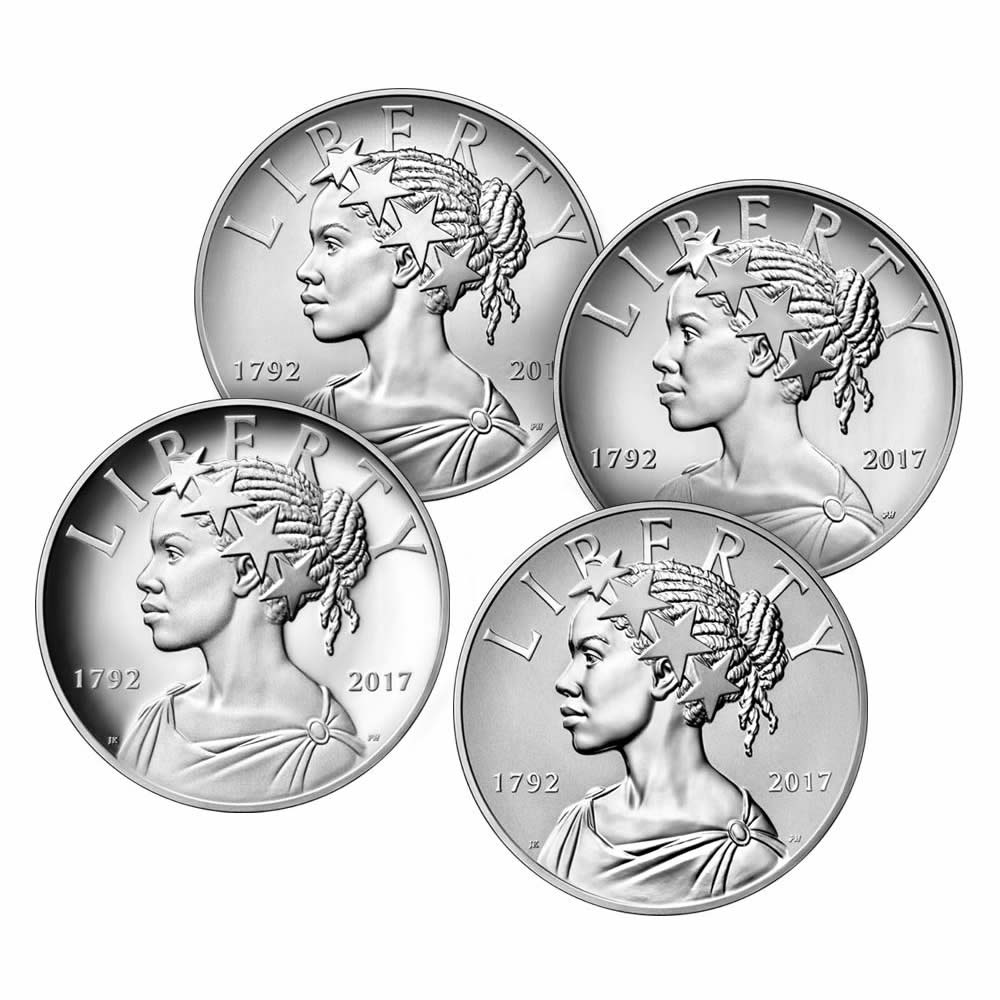 2017 American Liberty 225th Anniversary Silver Four-Medal Set