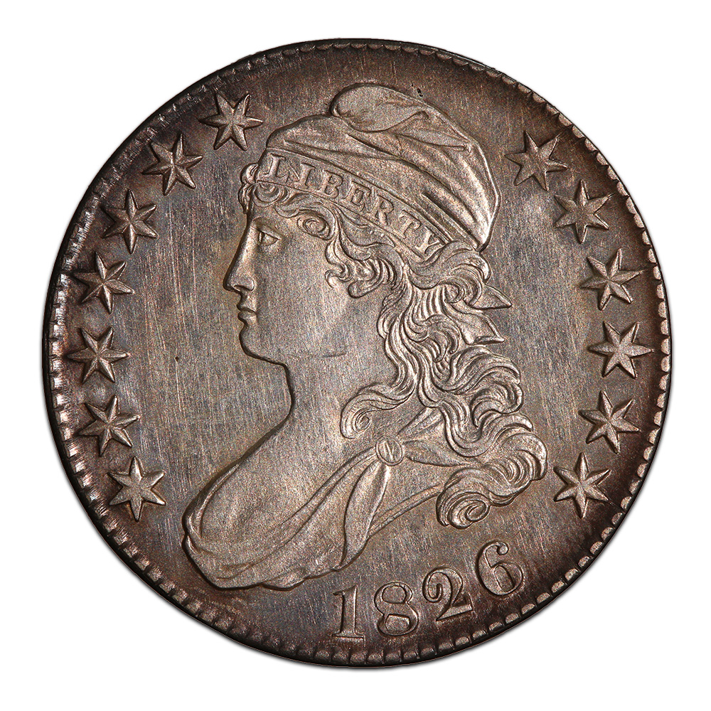 Bust Half Dollar Almost Uncirculated 1826