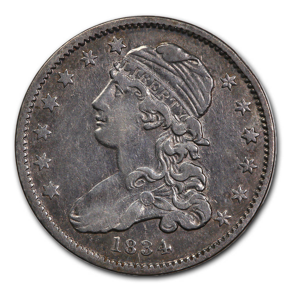 Capped Bust Quarter 1834 Very Fine