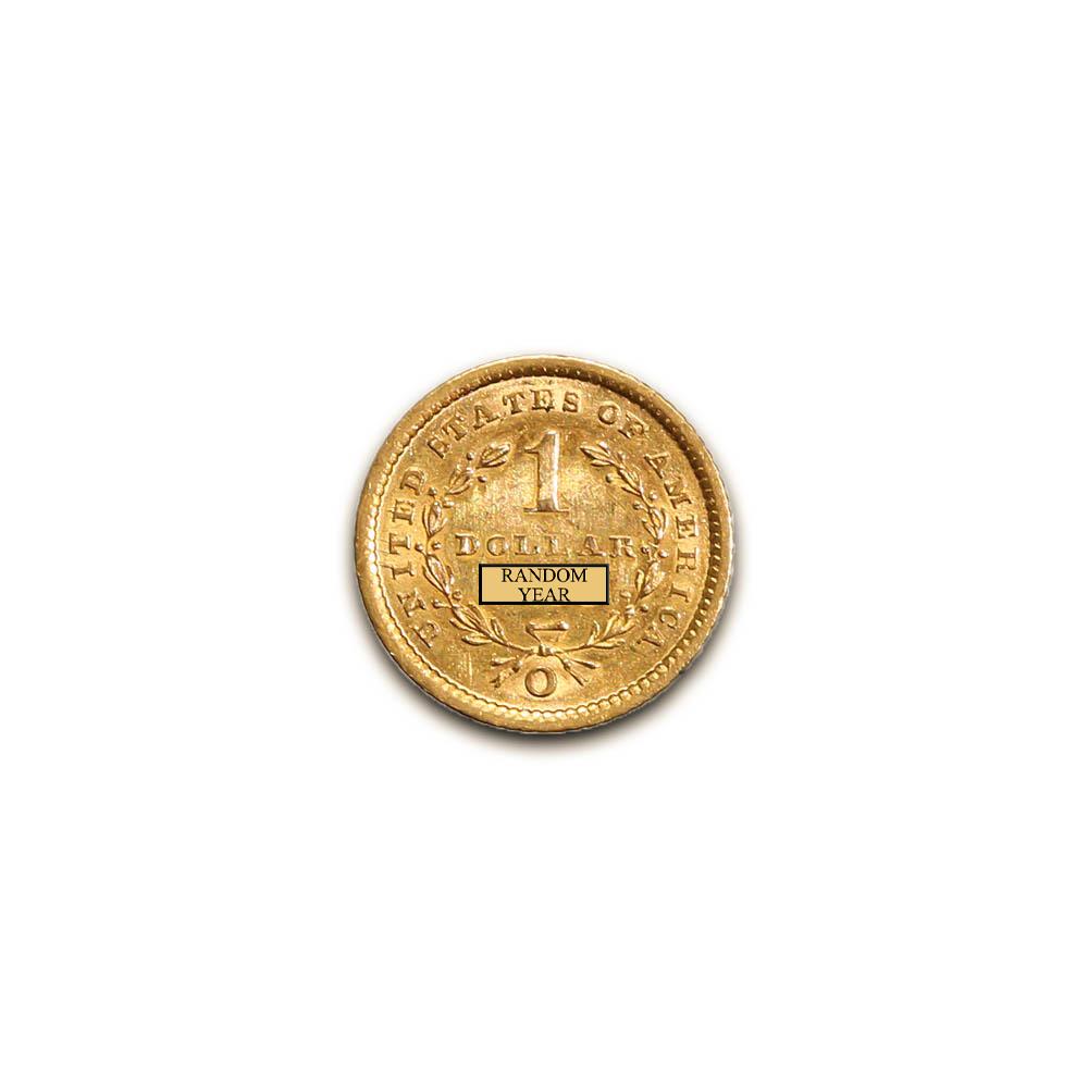Extra Fine XF $1 Gold Liberty Head Type 1 Random Year