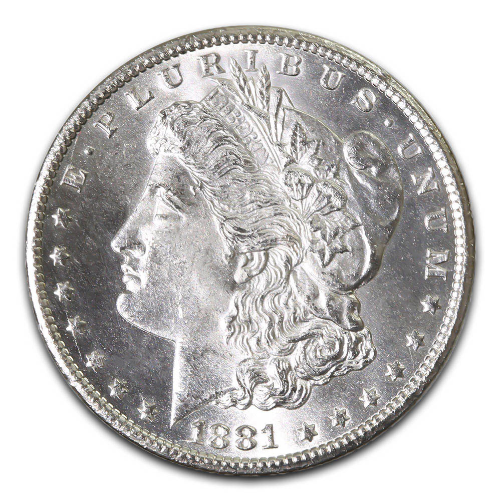 Morgan Silver Dollar Uncirculated 1881-S