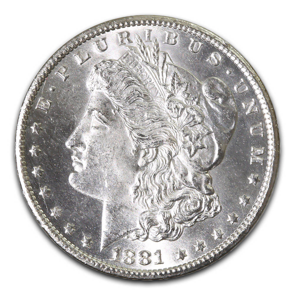 Morgan Silver Dollar Uncirculated 1881-CC
