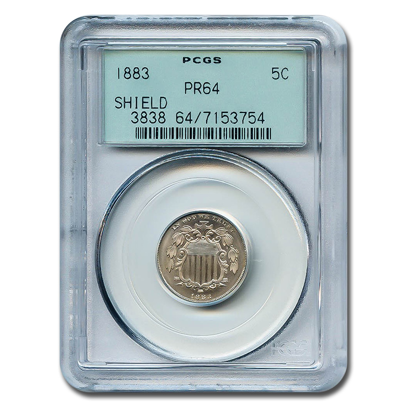 Certified Shield Nickel 1883 PR64 PCGS