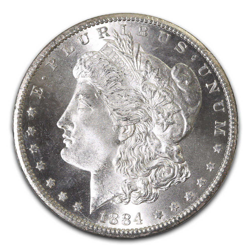 Morgan Silver Dollar Uncirculated 1884