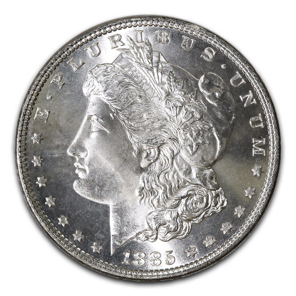 Morgan Silver Dollar Uncirculated 1885-CC