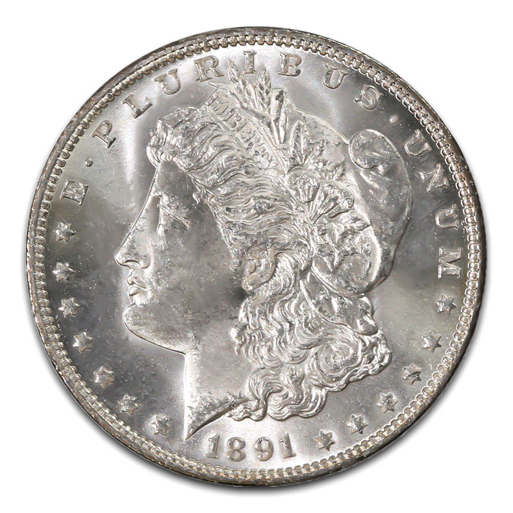 Morgan Silver Dollar Uncirculated 1891