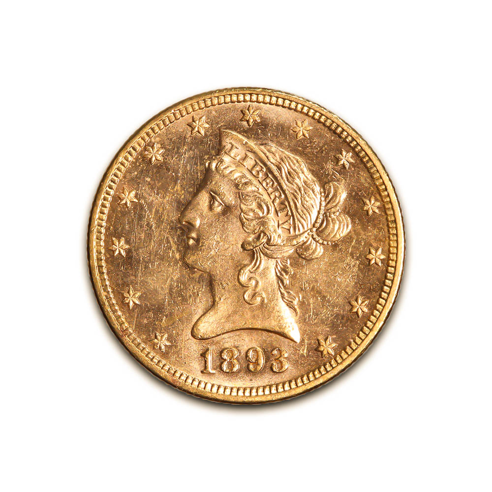 $10 Gold Liberty 1893 Uncirculated
