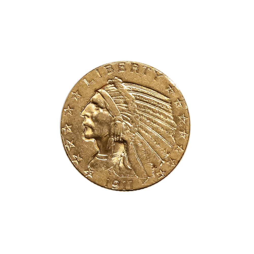 $5 Gold Indian 1911-S Extra Fine