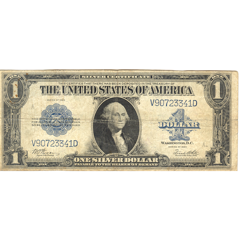 1923 $1 large size silver certificate G-VG