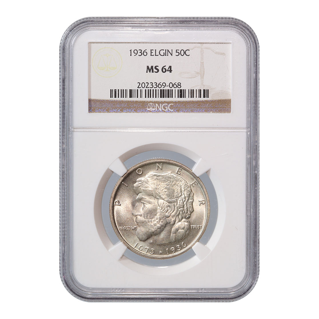 Certified Commemorative Half Dollar Elgin 1936 MS64 NGC