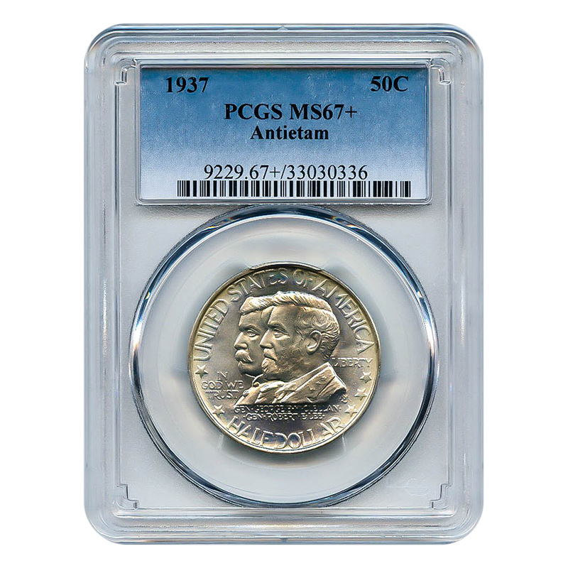Certified Commemorative Half Dollar Antietam 1937 MS67+ PCGS